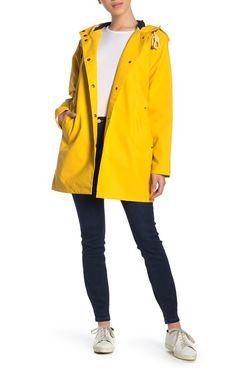 Pendleton Olympic Hooded Slicker Coat, Yellow