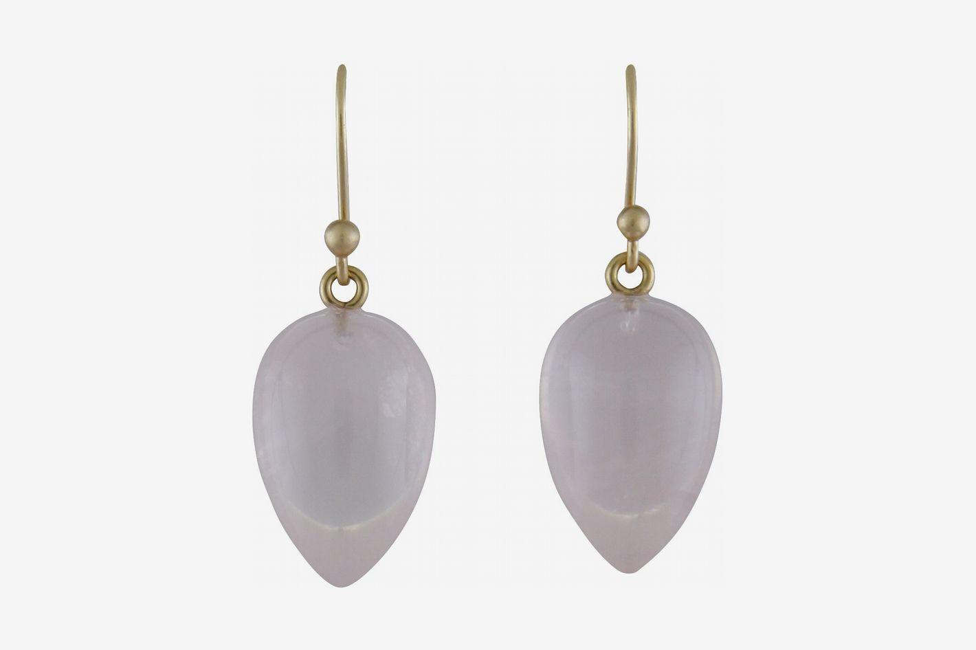 Ted Muehling Rose Quartz Acorn Earrings