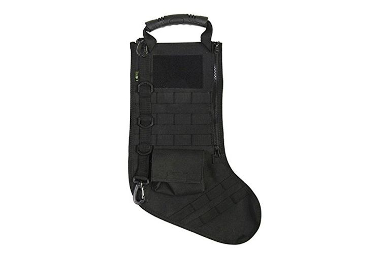 RUCKUP RUXMTSB Tactical Christmas Stocking, Full, Black