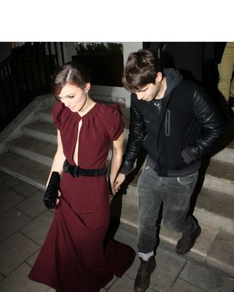 Keira Knightley and James Righton, trying not to be in this picture.