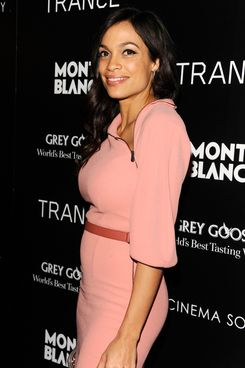 "Rosario Dawson== The Cinema Society & Montblanc host the premiere of Fox Searchlight Pictures' ""Trance""== SVA Theatre, NYC== April 2, 2013== ?Patrick McMullan== Photo -Clint Spaulding/PatrickMcMullan.com== =="