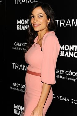 "Rosario Dawson== The Cinema Society & Montblanc host the premiere of Fox Searchlight Pictures' ""Trance""== SVA Theatre, NYC== April 2, 2013== ©Patrick McMullan== Photo -Clint Spaulding/PatrickMcMullan.com== =="