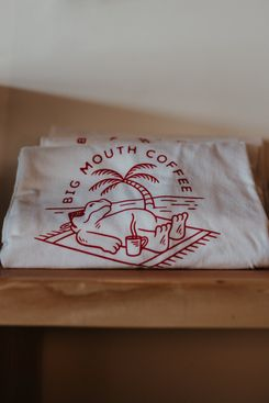 Big Mouth Coffee Beach Hippo Tee