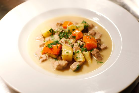 Braised veal, a nightly special.