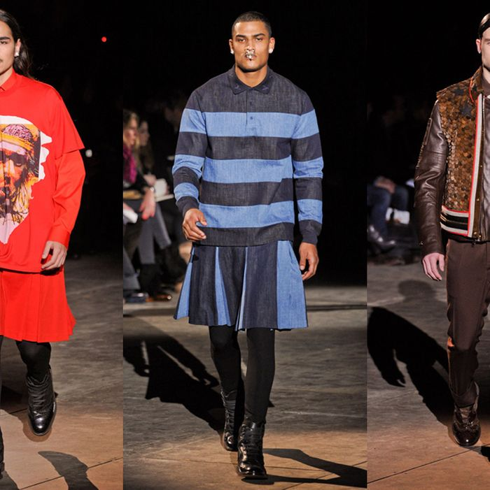 Givenchy's fall 2012 menswear.