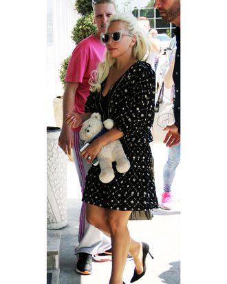 Lady Gaga at the Belgrade airport.