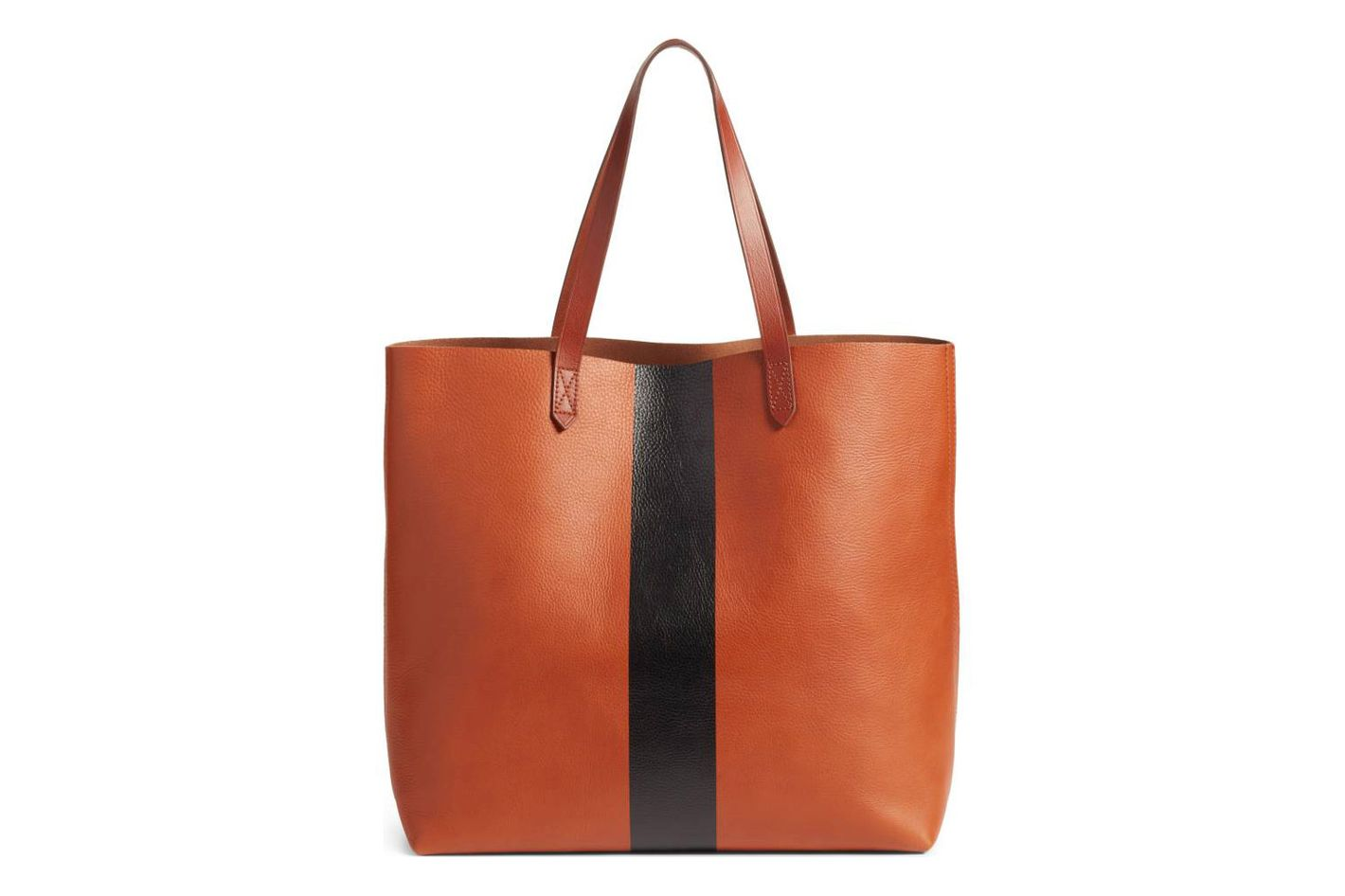 Madewell Paint Stripe Leather Tote