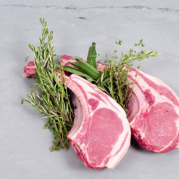 Heritage Foods Double Cut Long Bone Pork Chops