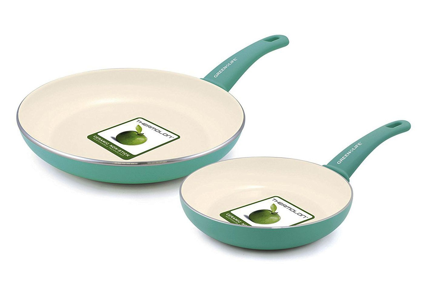 GreenLife Soft Grip Ceramic Non-Stick Frypan Set
