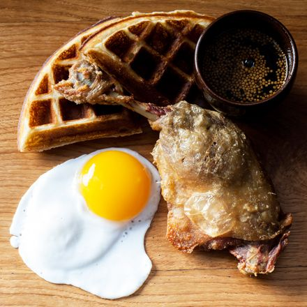 They've got ducks, and waffles, at Duck & Waffle.