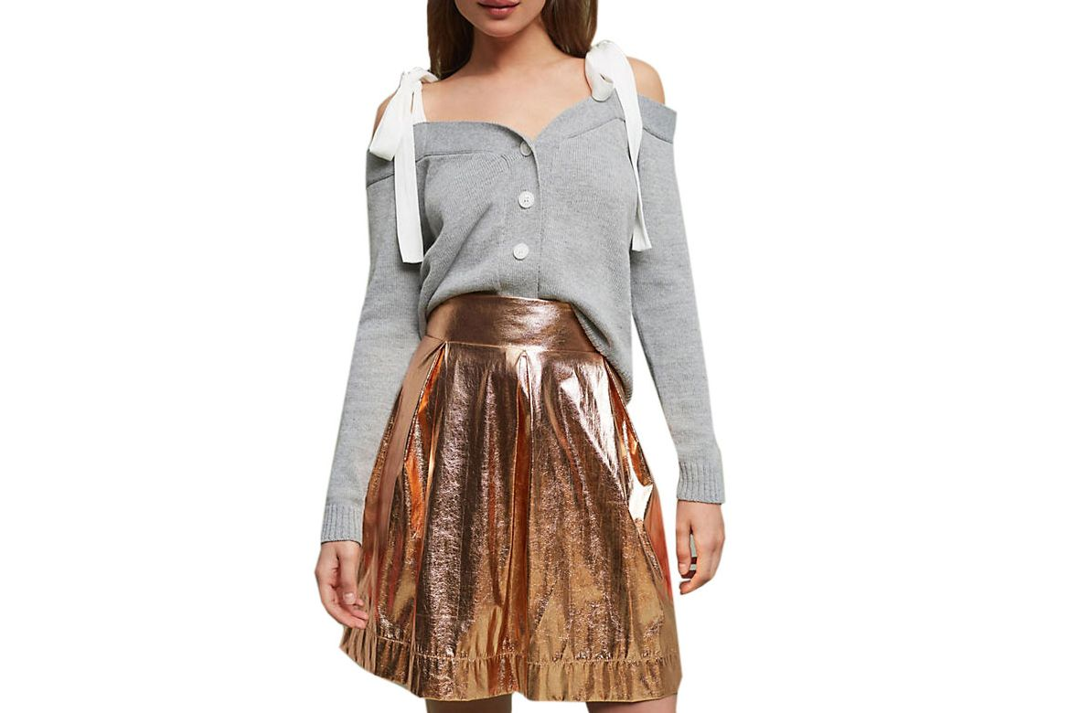 Maeve Rose Gold Mini Skirt