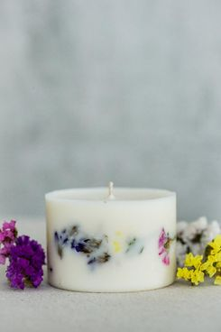 TL Candles Unscented Soy Wax Candle Dried Flower Candle