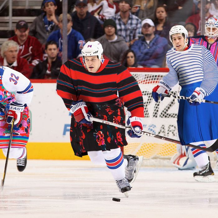 The Rangers in their new DKNY practice jerseys!