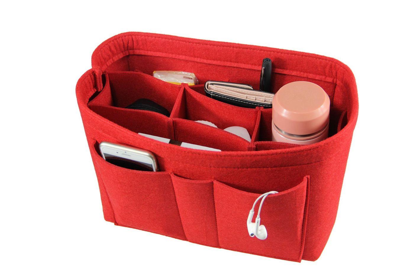 The Structured Bag Organizer Ettp Felt Fabric Purse Handbag