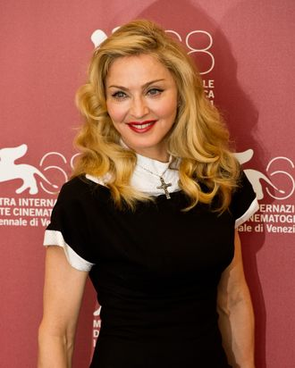 VENICE, ITALY - SEPTEMBER 01: Madonna poses during the