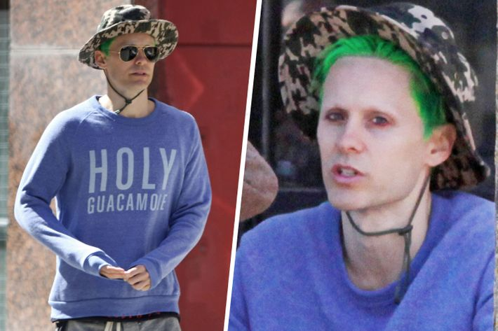 Jared Leto's new green hair.