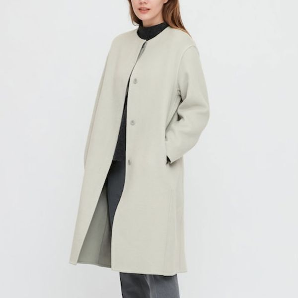 Uniqlo Double Face Collarless Coat
