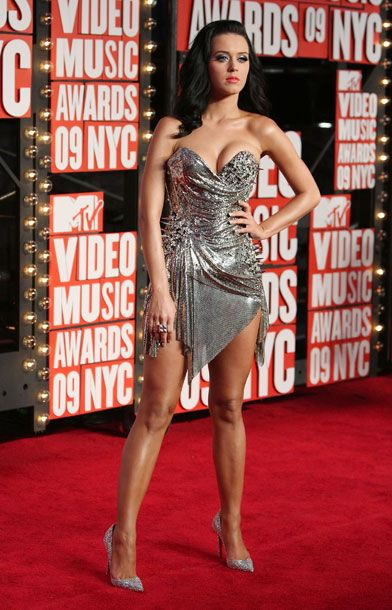 <b>When</b>: September 2009     <b>Where</b>: The VMAs     <b>What</b>: Now we're getting some attitude, some edge. This is obviously still crazy — Katy looks like Joan of Arc, if the Crusades were fought on ice and set to a strings version of Mötley Crüe's greatest hits — but mercifully less like she was inspired by a cluster of discarded Bazooka Joe chunks underneath a desk somewhere.