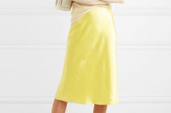 Vince Hammered Silk Skirt