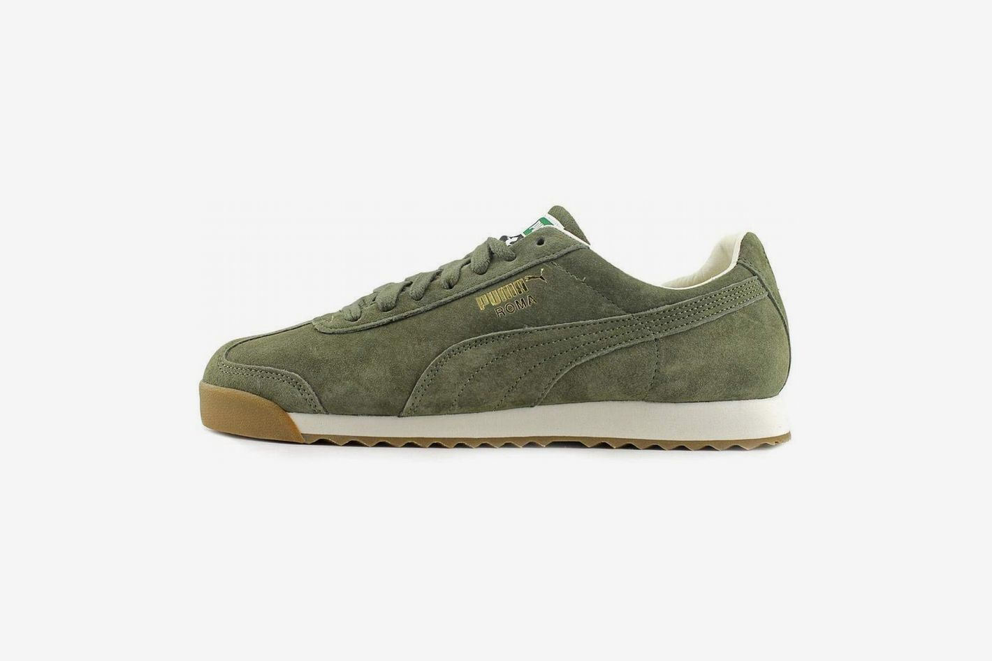 PUMA Roma Distressed Green Sneakers