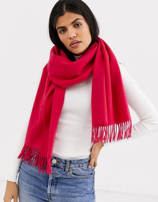 & Other Stories Wool Scarf in Pink