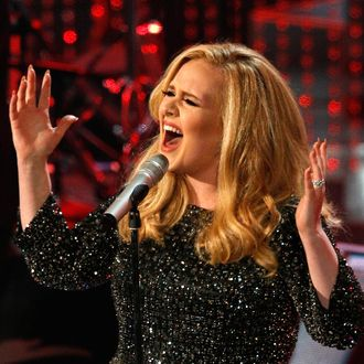 British singer Adele performs the song