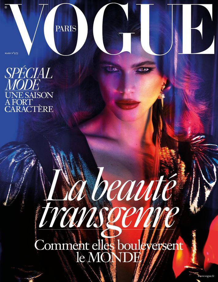 Transgender Model Valentina Sampaio Graces Cover of French Vogue
