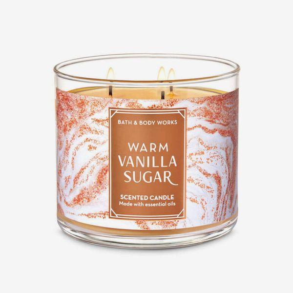 Bath & Body Works Warm Vanilla Sugar 3-wick candle