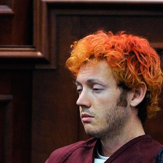 James Holmes makes his first court appearance at the Arapahoe County on July 23, 2012 in Centennial, Colorado. According to police, Holmes killed 12 people and injured 58 others during a shooting rampage at an opening night screening of