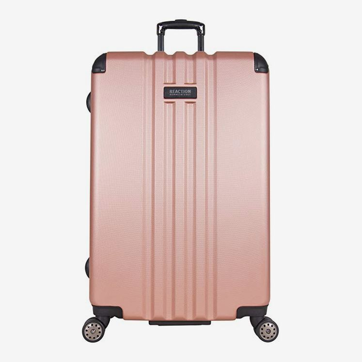 Kenneth Cole Reaction Reverb 29-Inch Hardside Expandable Eight-Wheel Spinner Checked-Luggage Suitcase, Rose Gold