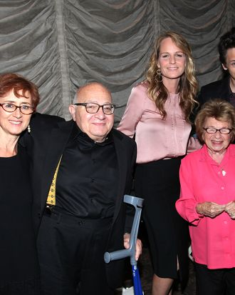 (L-R) Guest, Ben Lewin, Helen Hunt, Dr. Ruth Westheimer and John Hawkes attend the