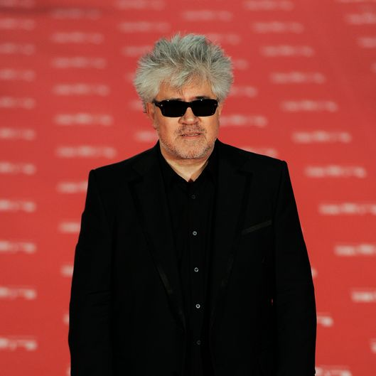 "Spanish director Pedro Almodovar, nominated as best director for his film ""The Skin I Live In"" ('La piel que habito'), arrives at the Goya Film Awards ceremony"