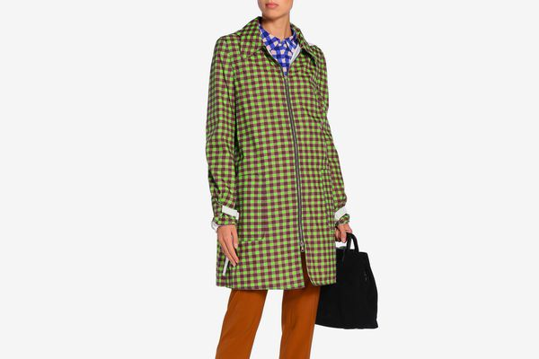 Marni Gingham Shell Hooded Jacket