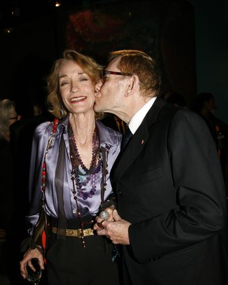 Loulou de la Falaise and Yves Saint Laurent in 2006.