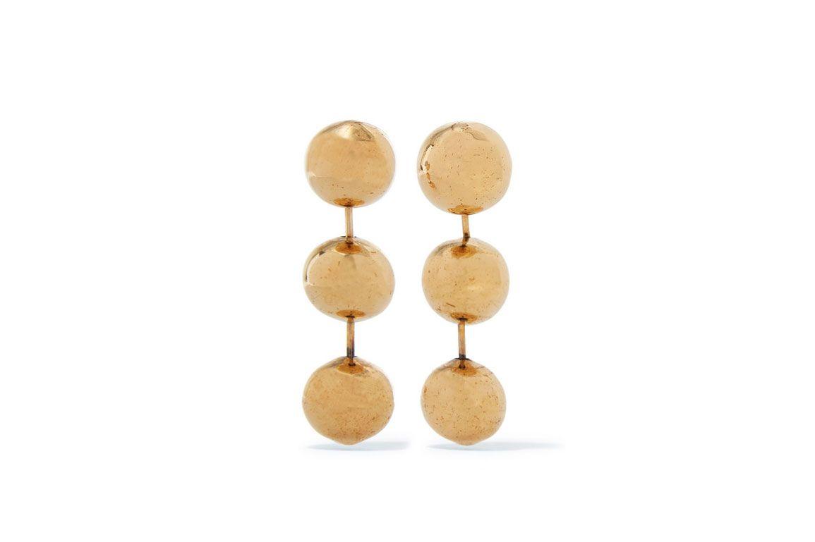 BALENCIAGA Burnished gold-tone earrings