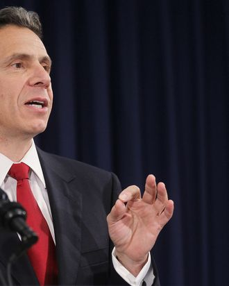 New York Governor-elect Andrew Cuomo speaks at a press conference