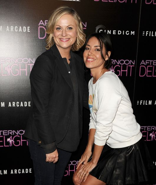 "HOLLYWOOD, CA - AUGUST 19:  Actresses Amy Poehler and Aubrey Plaza attend the premiere of ""Afternoon Delight"" at ArcLight Hollywood on August 19, 2013 in Hollywood, California.  (Photo by Jason LaVeris/FilmMagic)"