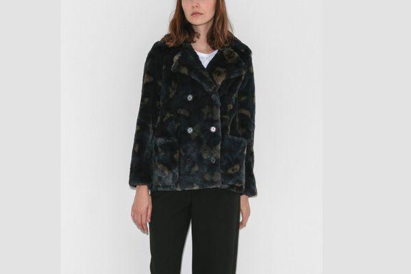 Zadig & Voltaire Printed Faux Fur Coat