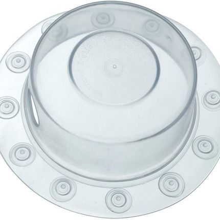 SlipX Solutions Adjustable Better Soak Overflow Drain Cover Fits all Drain Types for The Deepest Baths Silicone, White