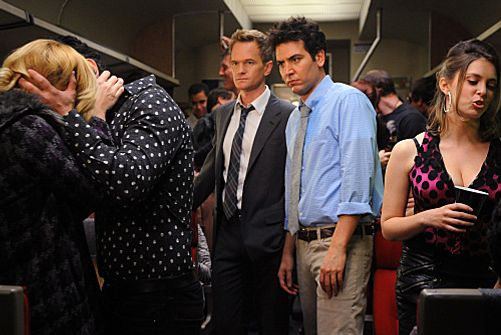 """The Drunk Train""  --  Barney (Neil Patrick Harris) and Ted (Josh Radnor) take a ride on ""the drunk train"" headed for Long Island, hoping to hook up, on HOW I MET YOUR MOTHER, Monday, Feb. 13 (8:00-8:30 PM, ET/PT) on the CBS Television Network.    Photo: Ron P. Jaffe/CBS  √?¬© 2012 CBS Broadcasting, Inc. All Rights Reserved."