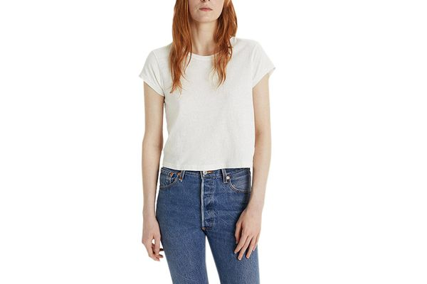 RE/DONE x Hanes 1950's Boxy Crop Tee