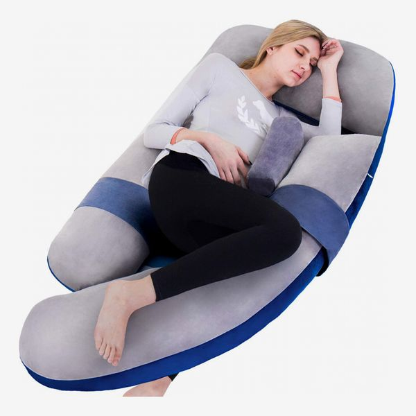 AweSling Extra Large U-Shape Pillow and Lounger with Detachable Side