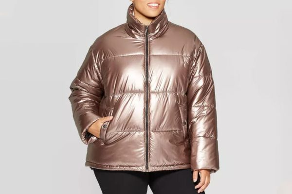 Ava & Viv Metallic Puffer Jacket