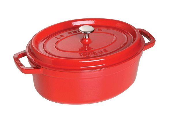 Staub 1103706 Oval Cocotte Oven, 8.5 quart, Cherry