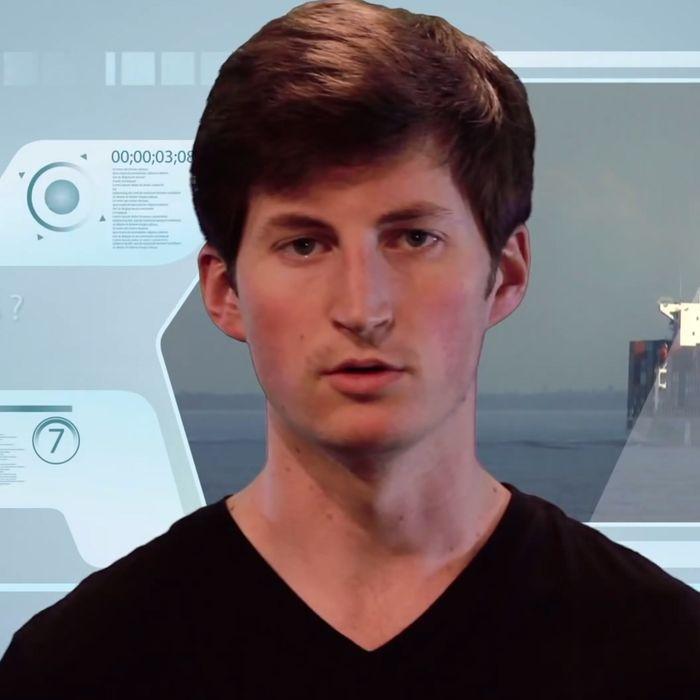 Rhinehart, in his space-age-y promo video.