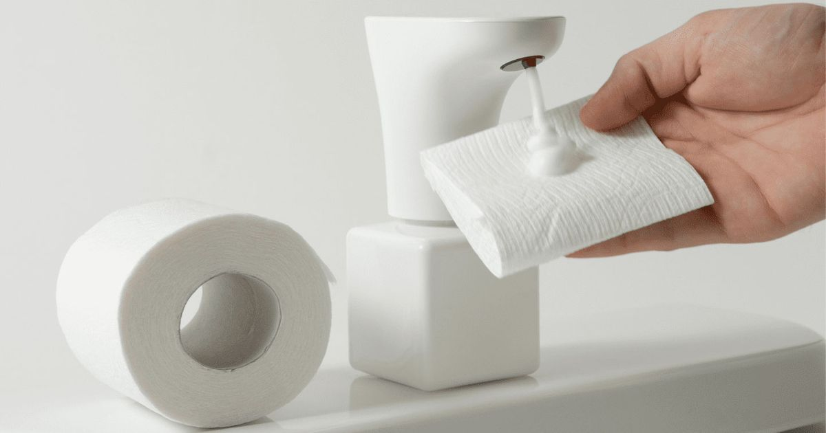 The Foam Dispenser That Turns Ordinary Toilet Paper Into Flushable Wipes