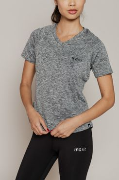 IFGFit Women's Tech V-Neck Posture Shirt