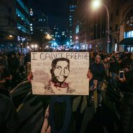 Hundreds of protestors gather at Foley Square in New York, United States on December 04, 2014. A Staten Island grand jury voted against criminal charges for New York City Police a white police officer Daniel Pantaleo who was accused of using a chokehold during an arrest of Eric Garner.