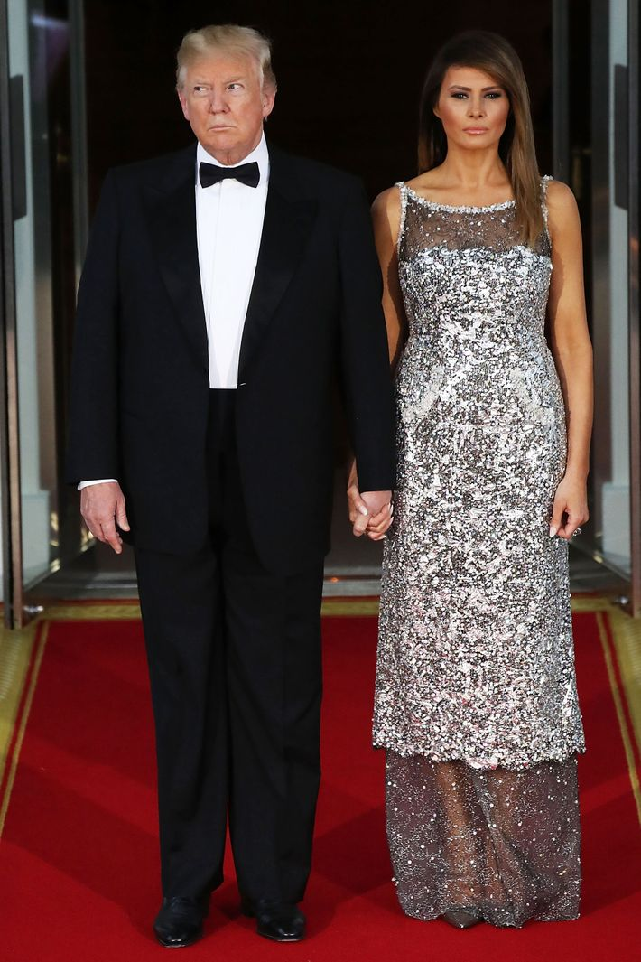 Donald Trump and Melania Trump.
