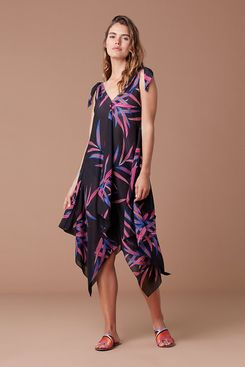 Diane von Furstenberg Sleeveless Ruffle Voile Maxi Dress